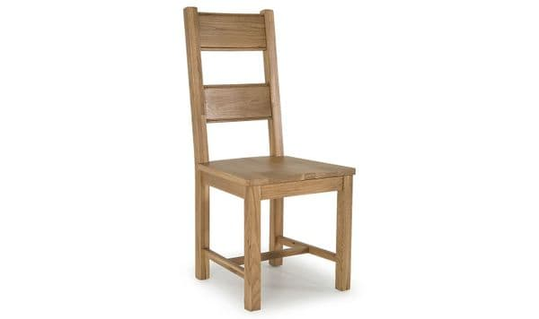 Benevento Natural Oak Veneer Solid Seat Dining Chair 18VD149