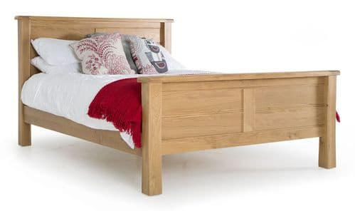 Benevento Natural Oak Veneer Super King Size Bed 18VD162