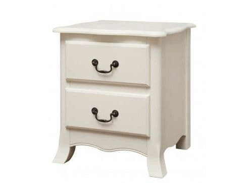 Besancon Antique White Finished 2 Drawer Bedside 17LD44