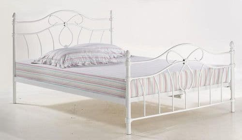 Biarritz Metal White Double Bed 17LD232
