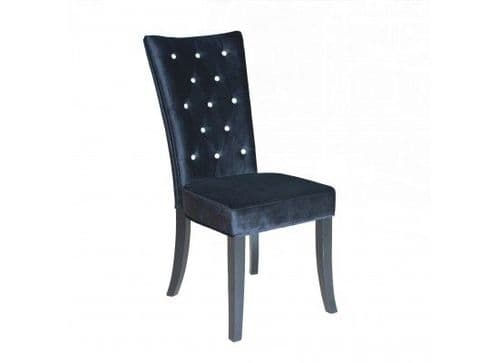 Bonifacio Black Velvet Set Of 2 Dining Chairs 17LD459