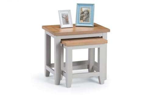 Bordighera 2-Tone Grey And Oak Nest Of Tables 18JB444