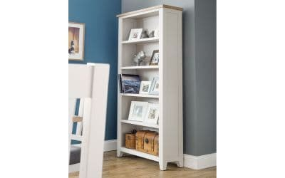 Bordighera 2-Tone Grey And Oak Tall Bookcase 18JB445