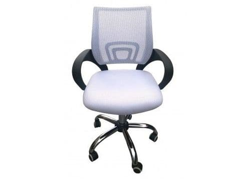 Brieuc White Mesh Fabric Office Chair 17LD535