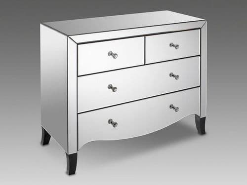 Calais Mirrored Glass Finish 2+2 Chest 17LD111