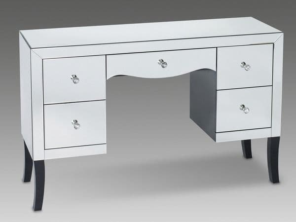 Calais Mirrored Glass Finish 5 Drawer Dressing Table 17LD115