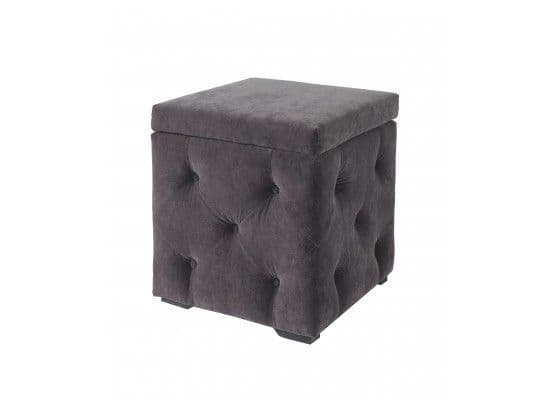 Calais Velvet Charcoal Storage Box 2017 LD116