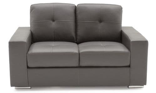 Castel Grey Bonded Leather 2 Seater Sofa 218VD470