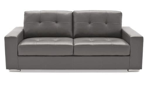 Castel Grey Bonded Leather 3 Seater Sofa 218VD472