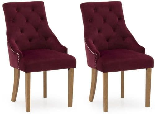 Castellana Stylish Red Crismon Dining Chair (Pair) 218VD494