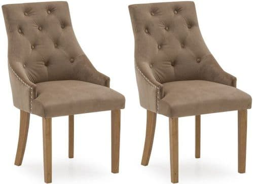 Castellana Stylish Velvet Cedar Dining Chair (Pair) 218VD492