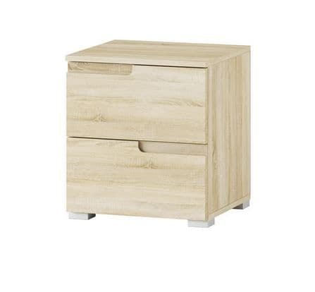 Cellini Sonoma Oak 2 Drawer Bedside Table S32