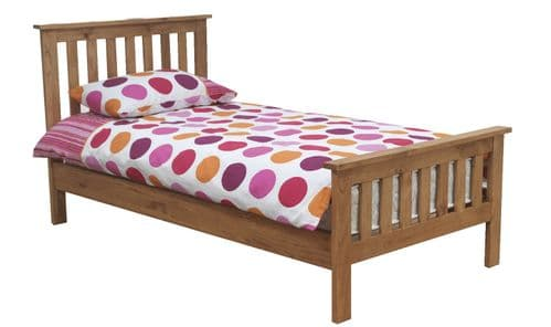 Cesena Natural Solid Pine Honey Lacquered Finish Single Bed 218VD336