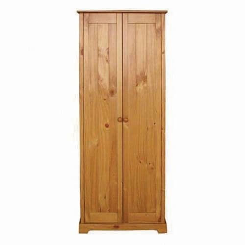 Chambery Antique Pine Finished 2 Door Wardrobe 17LD26