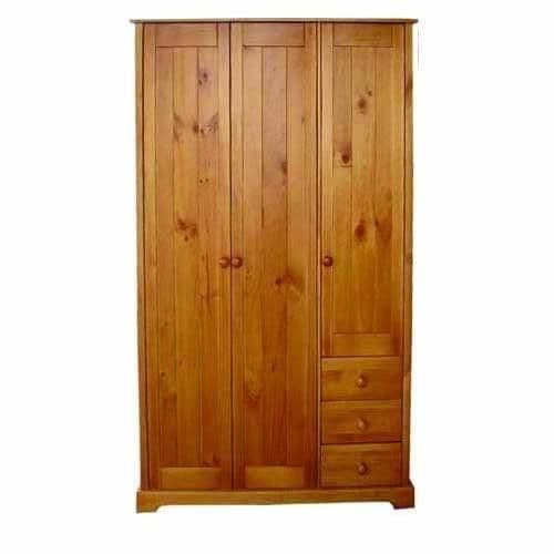 Chambery Antique Pine Finished 3 Door / 3 Drawer Wardrobe 17LD27