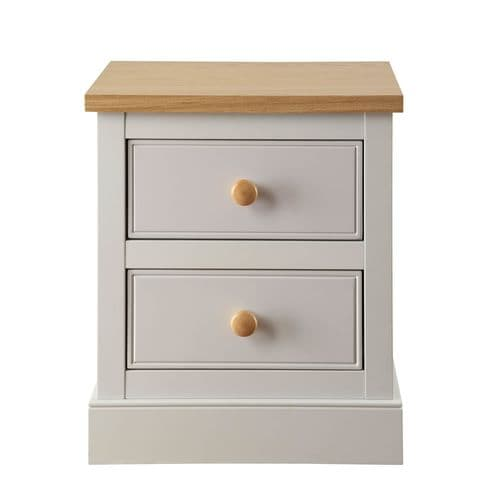 Chartres Dove Grey 2 Drawer Bedside 17LD104