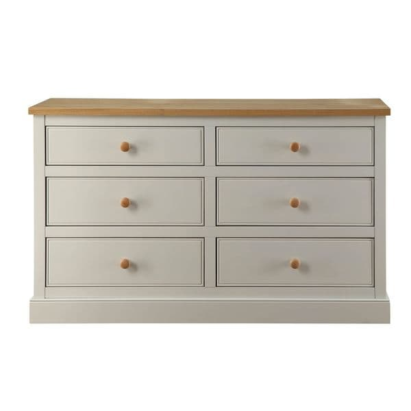 Chartres Dove Grey 3+3 Wide Chest 17LD105