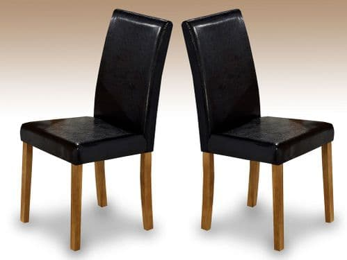 Chenonceaux Set Of 2 Oak Finish Dining Chairs 17LD307