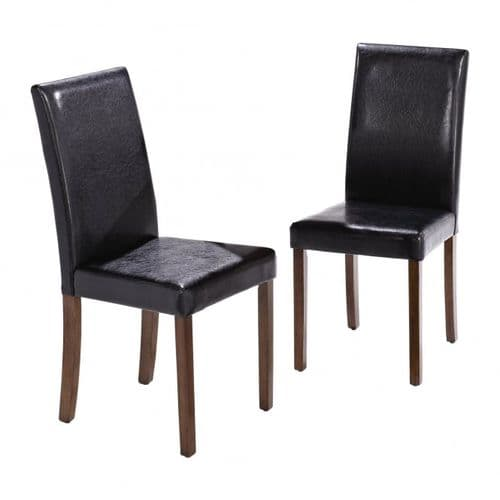 Chenonceaux Set Of 2 Walnut Finish Dining Chairs 17LD307
