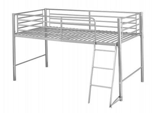Cholet Silver Finish Single Bunk Bed 17LD265
