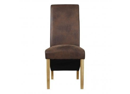 Citeaux Brush Brown Faux Leather Set Of 2 Dining Chairs 17LD461