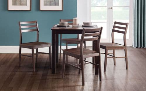 Ciudad Dark Walnut Effect Dining Set 18JB368