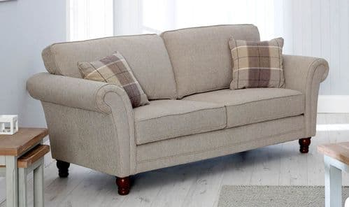 Civita Herringbone Effect Chenille Fabric 3 Seater Sofa 218VD485