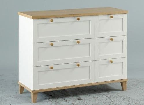 Colmar White And Ash Veneer 3+3 Drawer Chest 17LD38