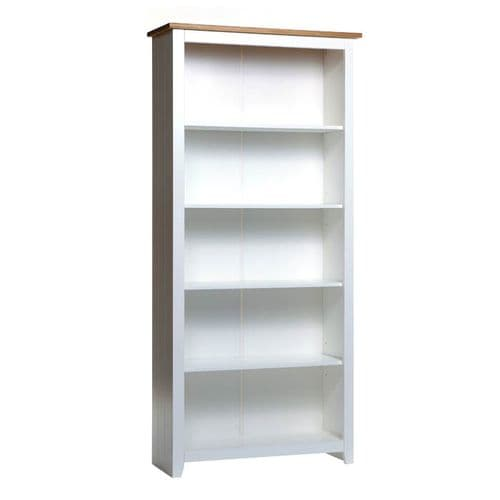 Columbo White Tall Bookcase