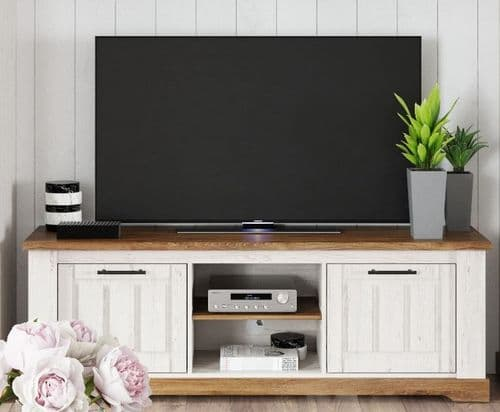Cottage White Oak and Pine Effect TV Cabinet SZCO25