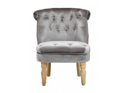 Coucy Classic Silver Velvet Lounge Chair 17LD490