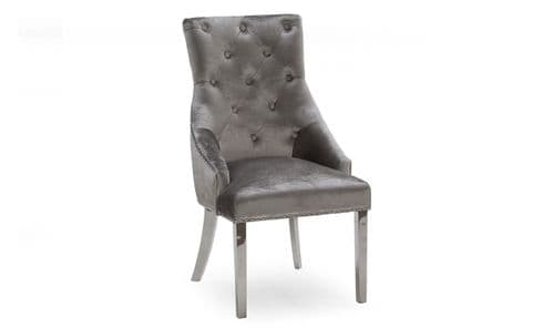 Crotone Grey Velvet Dining Chair 18VD122
