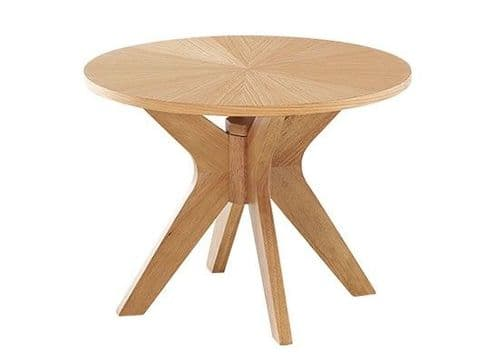 Deauville White Oak Veneer Lamp Table 17LD394