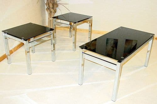 Delton Glass Coffee Table And Lamp Tables HL390-18