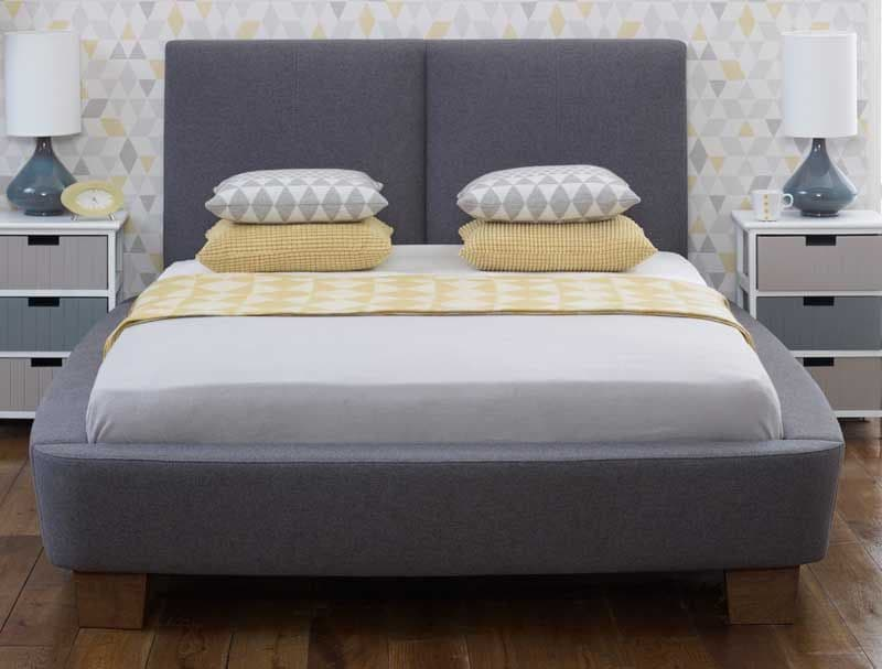 Dione Slate Fabric 5ft King Size Bed - LLB