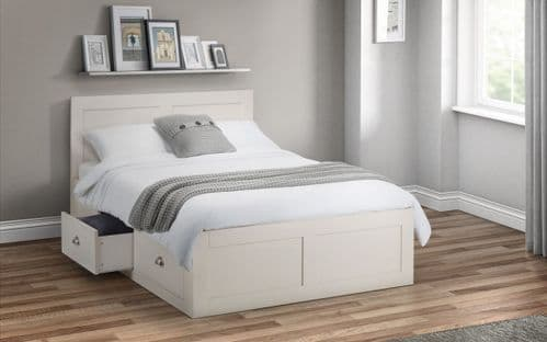 Donostia Ivory Lacquered 4 Drawer Wooden Storage Bed 18JB179