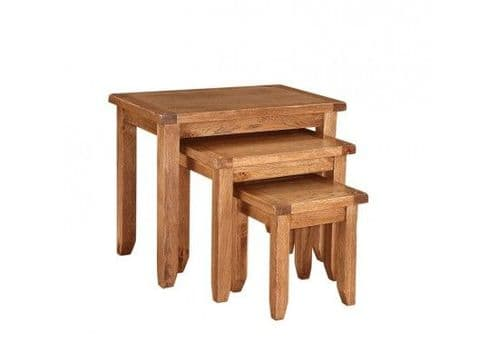 Dreux American Oak Nest Of 3 Tables 17LD366