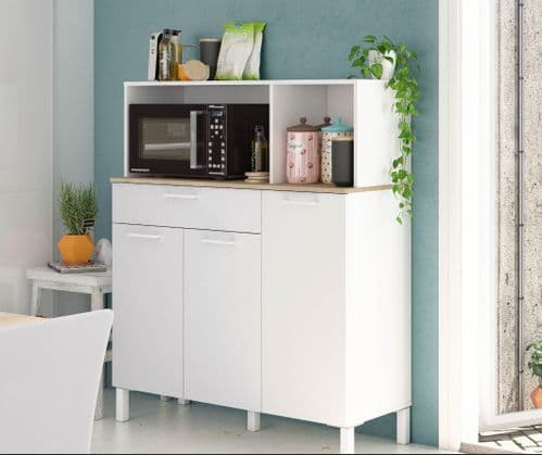 Elma Large White 3 Door Utility Room Kitchen Cupboard Sideboard 3031