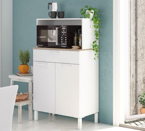 Elma  White 2 Door Utility Room Kitchen Cupboard Sideboard 3032