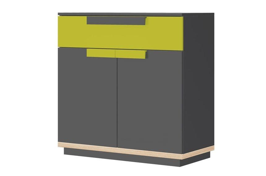 Fenwik Graphite And Green Small Compact Sideboard SZWO06