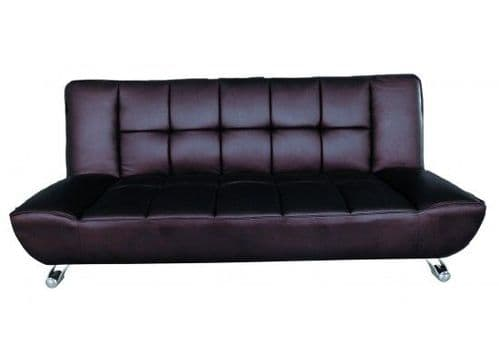 Ferrand Brown Faux Leather Sofa Bed 17LD525