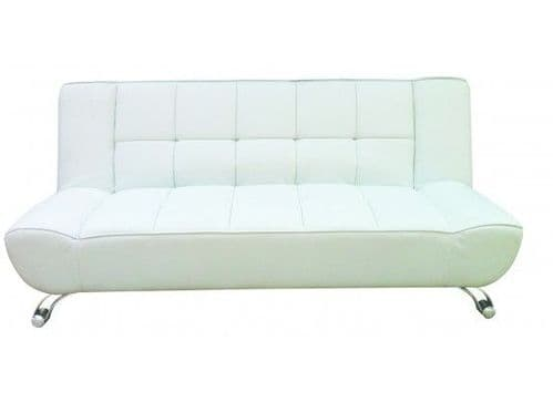 Ferrand White Faux Leather Sofa Bed 17LD524
