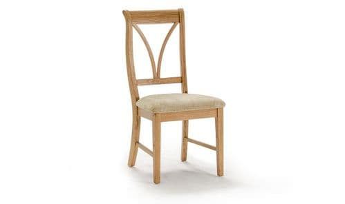 Forio Solid Oak Oiled Finish Dining Chair 18VD218