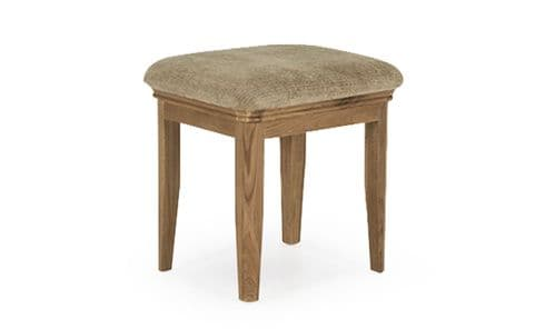 Forio Solid Oak Oiled Finish Dressing Stool 18VD238