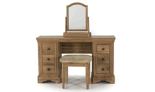 Forio Solid Oak Oiled Finish Dressing Table 18VD235