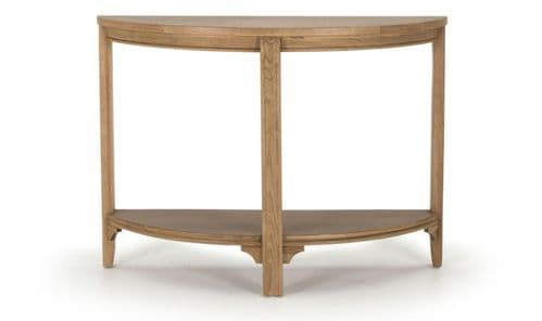 Forio Solid Oak Oiled Finish Half Moon Console Table 18VD223