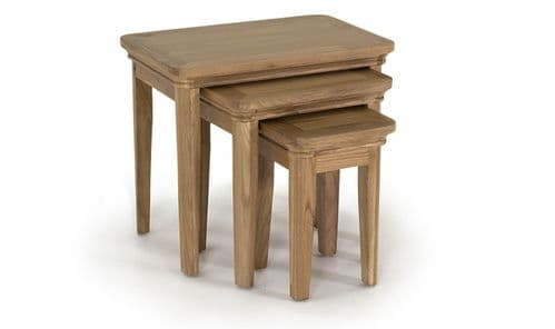 Forio Solid Oak Oiled Finish Nest Of Tables 18VD224