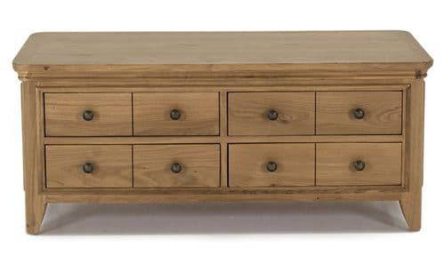 Forio Solid Oak Oiled Finish Storage Coffee Table 18VD221