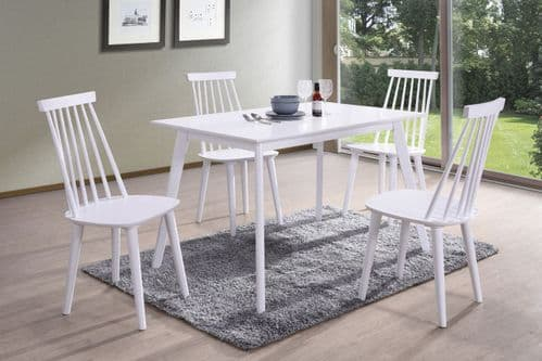 Formia White 120cm Dining Table 218VD537