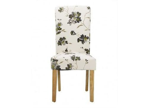 Fresnes Floral Fabric Set Of 2 Dining Chairs 17LD451